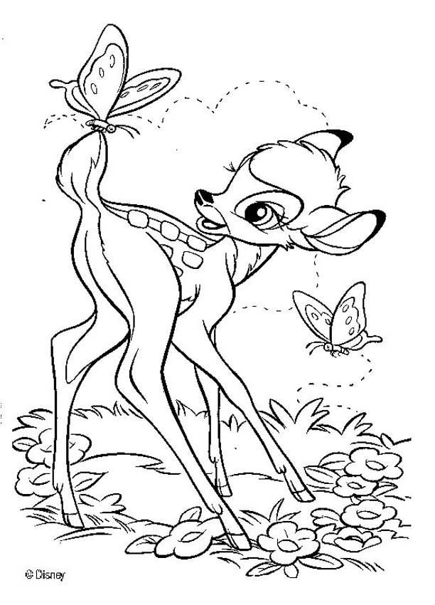 BAMBI coloring pages - Bambi 17 | New baby. | Pinterest | Pintar ...