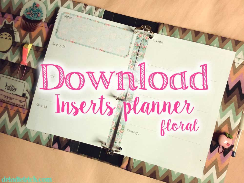 download inserts para planner floral a5 e personal