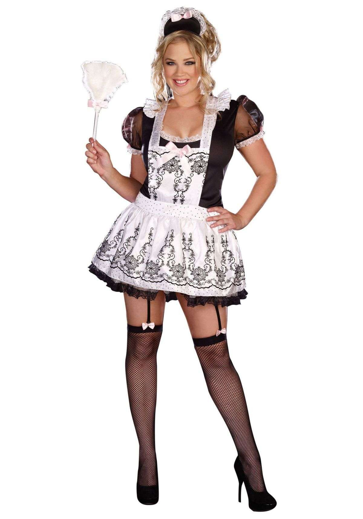 Dreamgirl plus size maid to order costume french maid