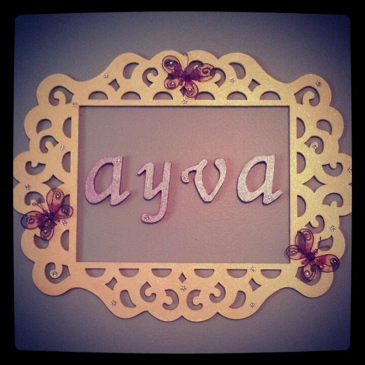 Diy name wall decor for baby girl nursery. Frame, letters, and paint ...