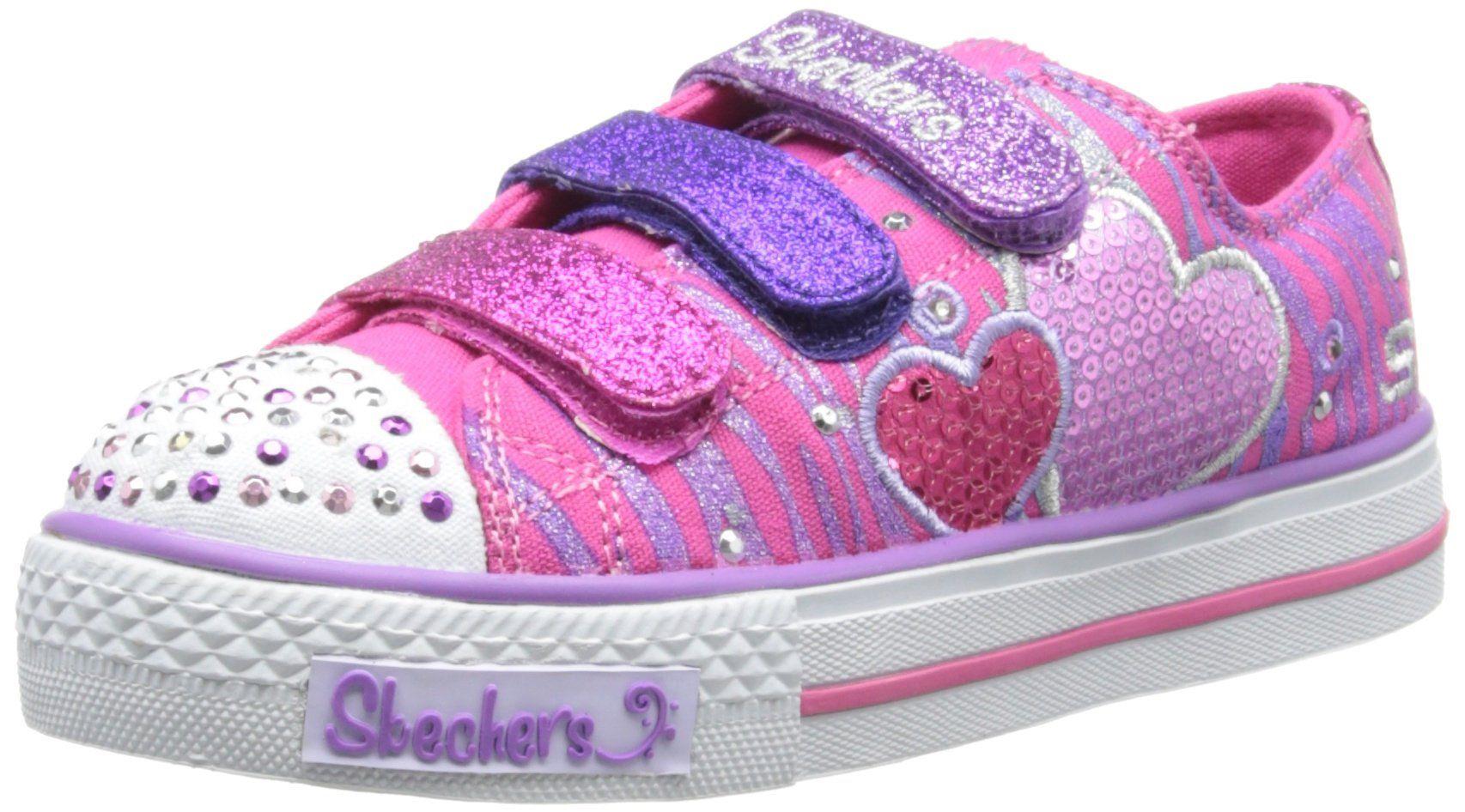 Skechers Girls Shuffles Triple Time Low Top 10203L NeonPink