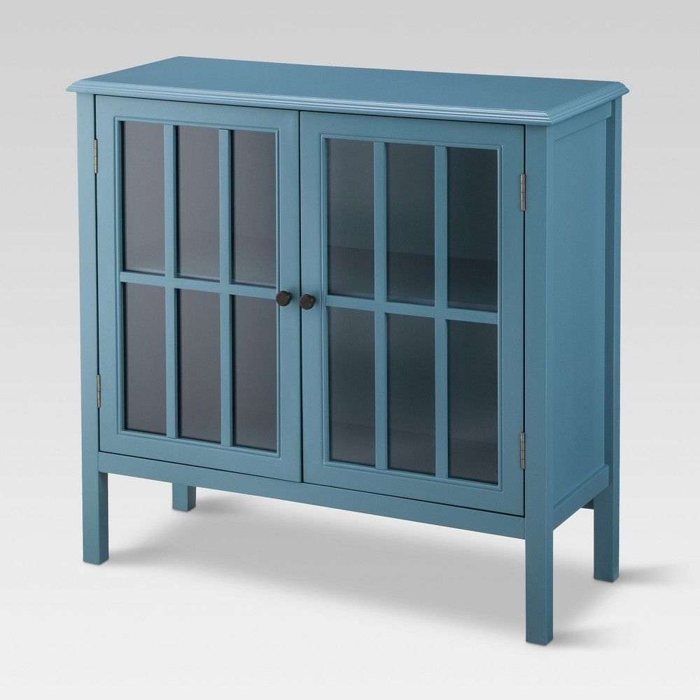 Windham 2 Door Accent Cabinet Teal Threshold Decorative Storage Cabinets