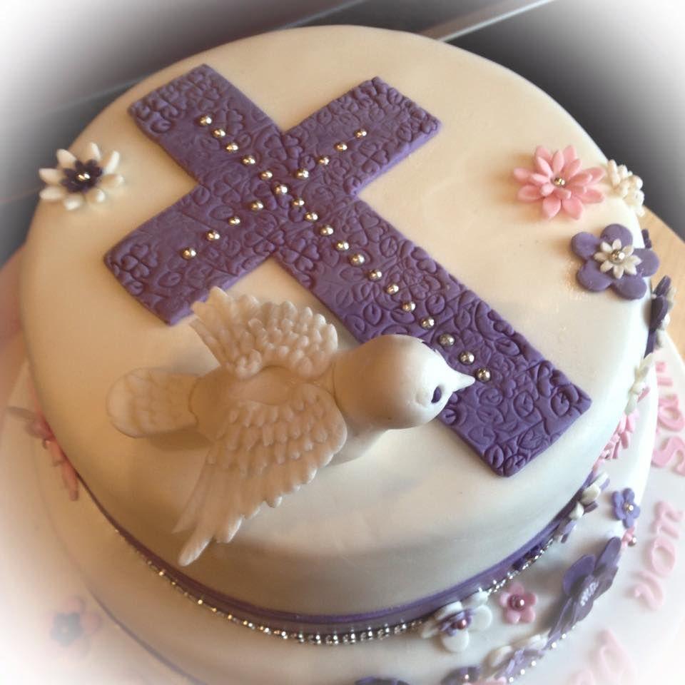 Torten Topper Kommunion Firmung Taube Kreuz Cake Topper