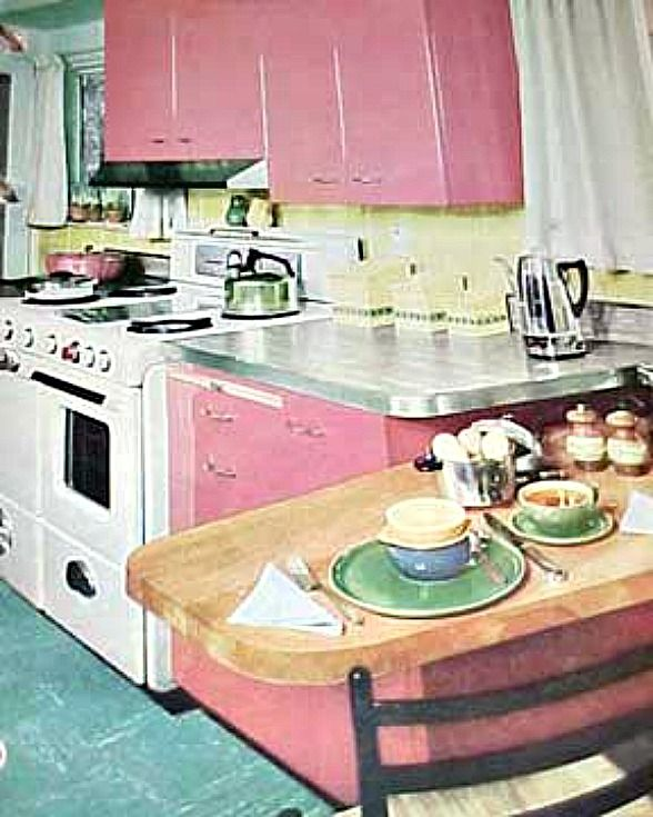 Pink And Black Kitchen Ideas: Retro Rooms: The 1950s Kitchen