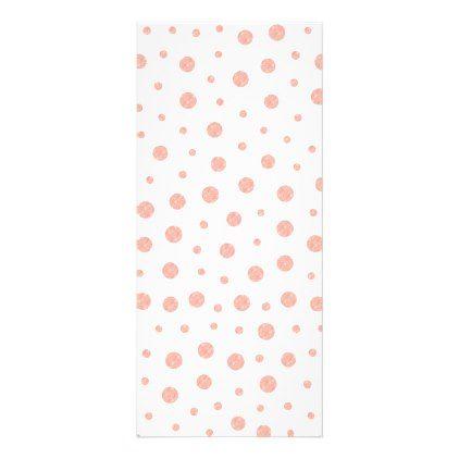 Elegant polka dots - Soft Pink Gold White Rack Card - dot paper template