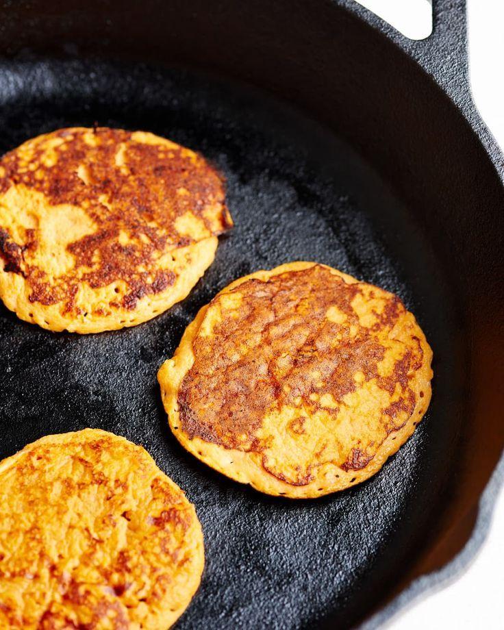 2-Ingredient Sweet Potato Pancakes   - Skinny Foods -