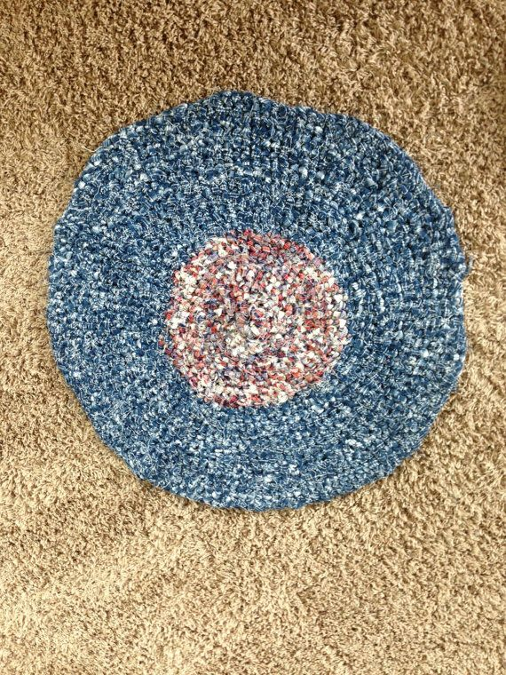 Crochet Rag Rug by BIZEbeez on Etsy, $25.00...made by Andrea