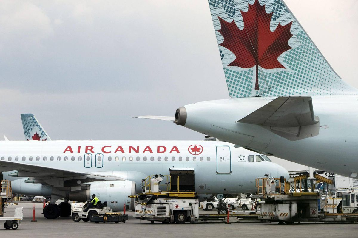 Two injured after Air Canada flight hits turbulence
