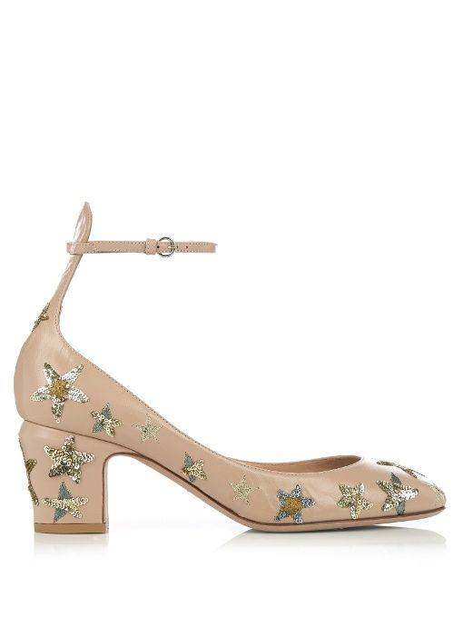 6cd4b2956e29 VALENTINO Tango Star-Embellished Leather Pumps.  valentino  shoes  pumps