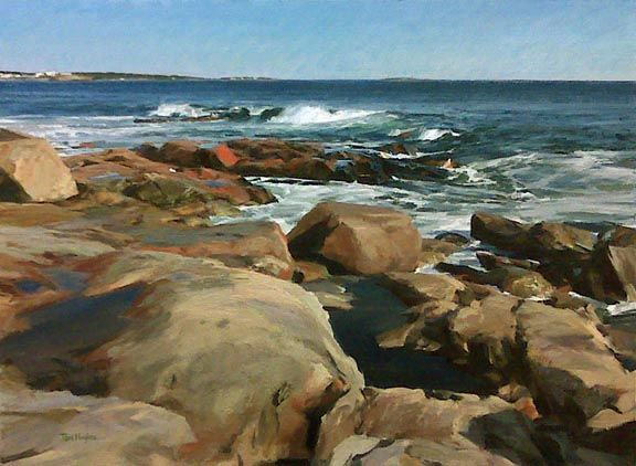 A Perfect Day Tom Hughes Brunswick Me These Rocks Aren T Prouts Neck But You Could Have Fooled Me Ocean Painting Coastal Painting Landscape Paintings