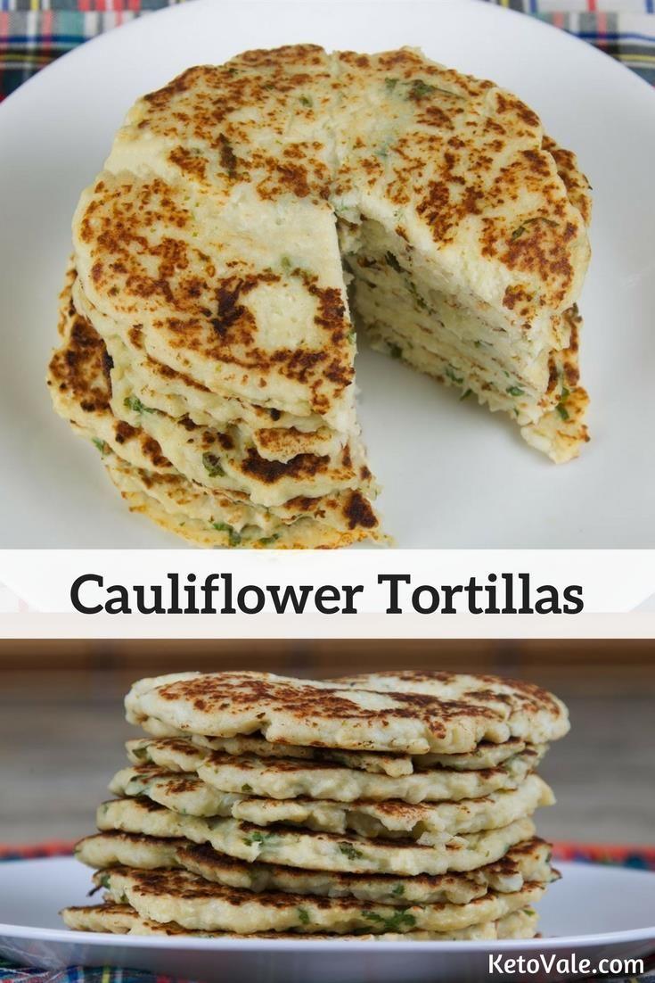 Easy cauliflower tortillas low carb grainfree glutenfree