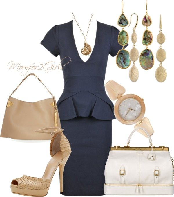 """""""Perfect Navy for the Office"""" by momfor2girls on Polyvore"""