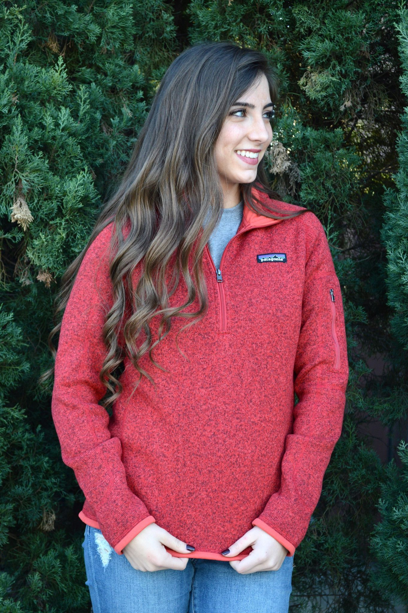 Patagonia Women's Better Sweater Quarter Zip Fleece- Sumac Red ...