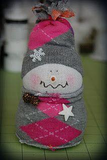 Lindo muñeco de nieve  Sock snowman