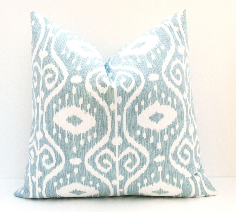 Euro Pillow Sham 24x24 Pillow Cover Blue Green Pillow Decorative