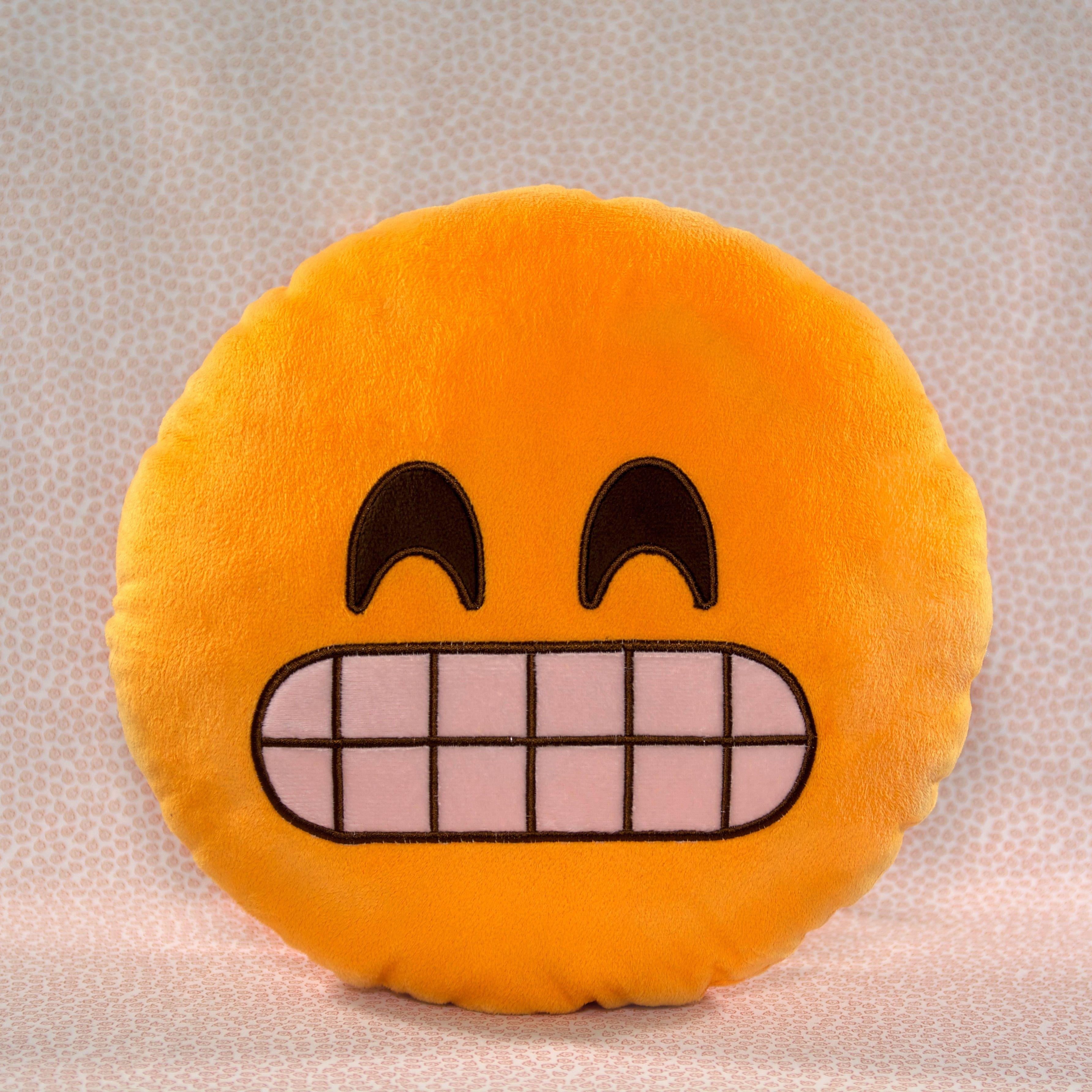 Grin Emoji Pillow Throwboy