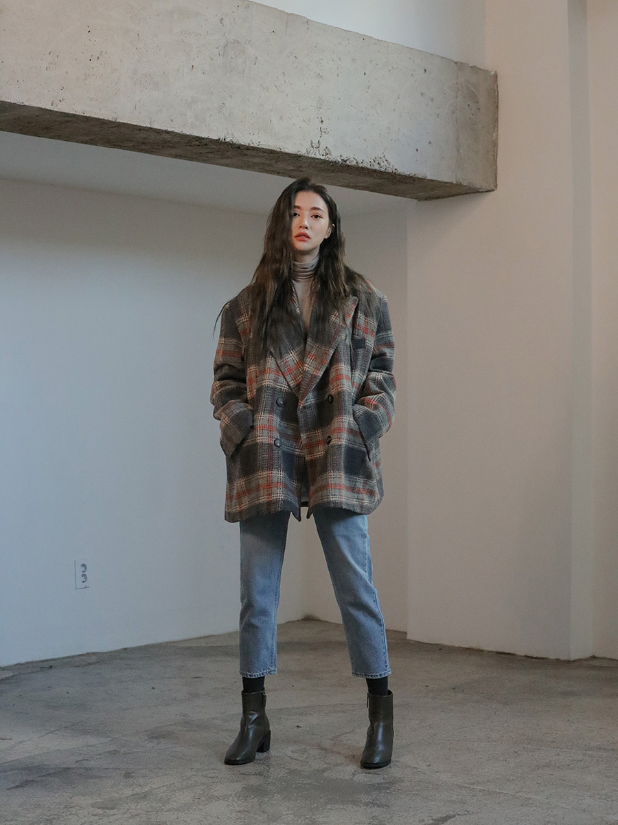 Photo of Woolen Loose Fit Check Jacket
