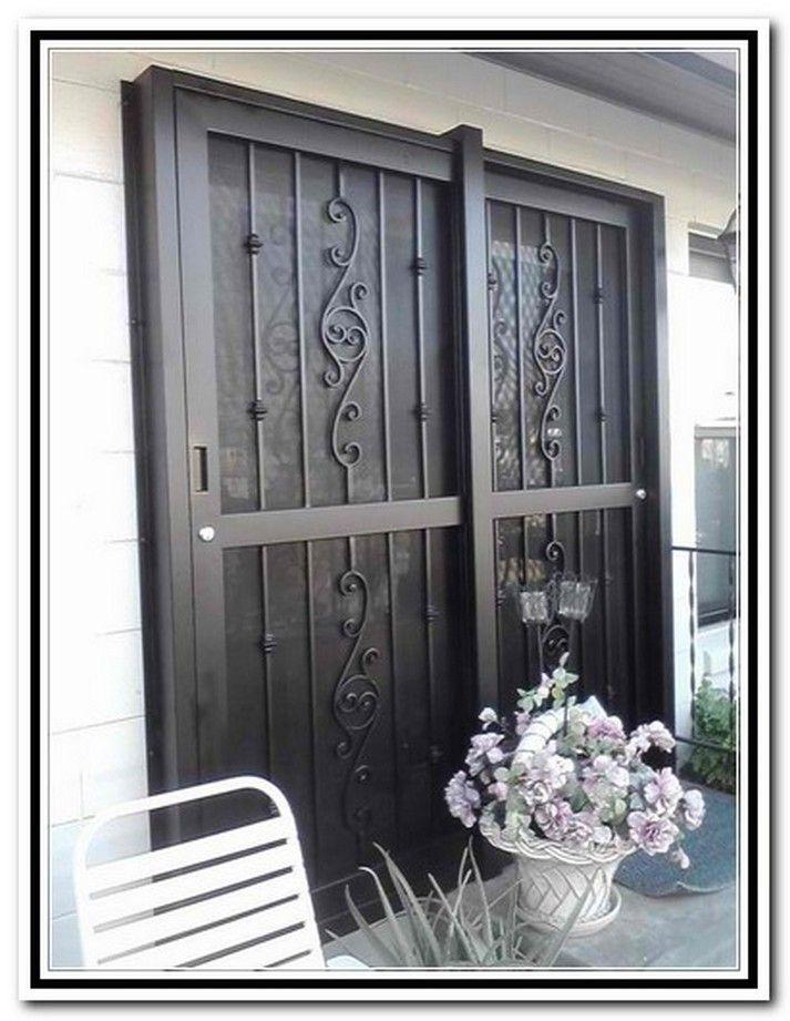 wrought iron sliding glass doors
