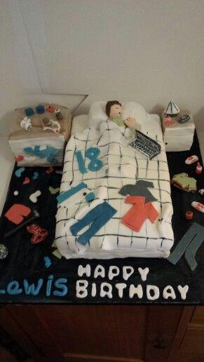18th Birthday Cake Messy Boys Bedroom