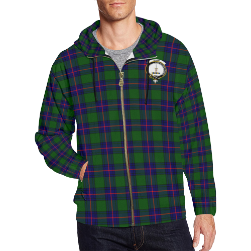ea97142cb Tartan Zipped Hoodie - Shaw (of Tordarroch) Clan A9 | Products | Zip ...