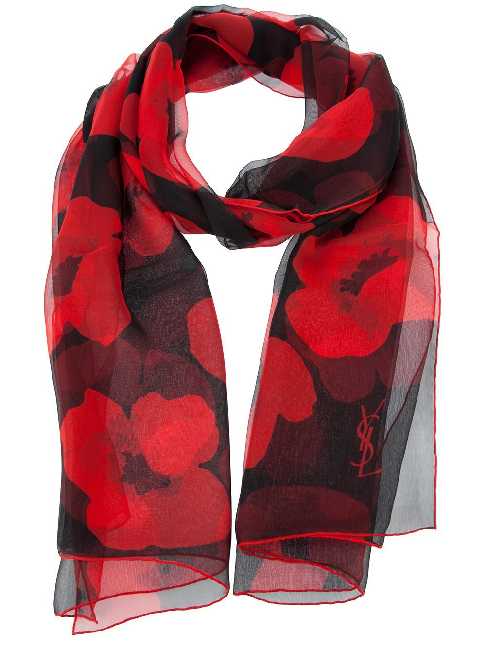d488aa02d40 Poppy Print Scarf | Poppy Perfection | Red silk scarf, Silk scarves ...