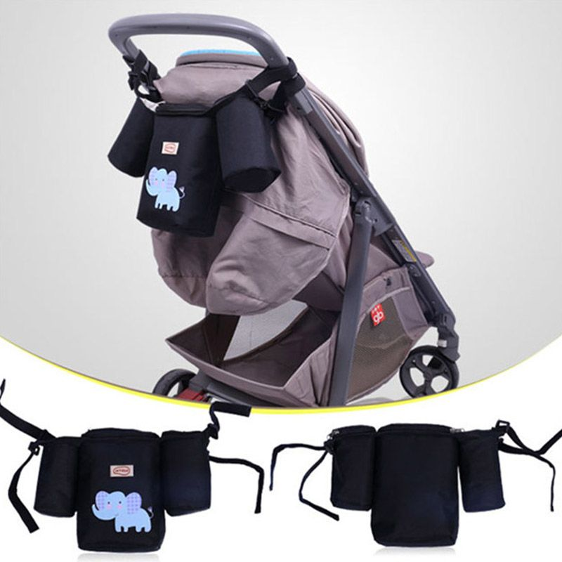 Baby Stroller Organizer Cup Bag Carriage Pram Buggy Cart Bottle Bags Stroller Accessories Baby Car Bag Newest Insulation Bag