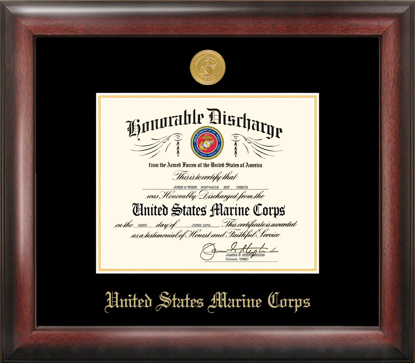 Patriot Frames has created fine-quality gold embossed frame for your ...