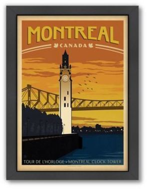 World Travel Montreal Framed Wall Art By Anderson Design Group Retro Travel Poster Travel Posters Vintage Travel Posters