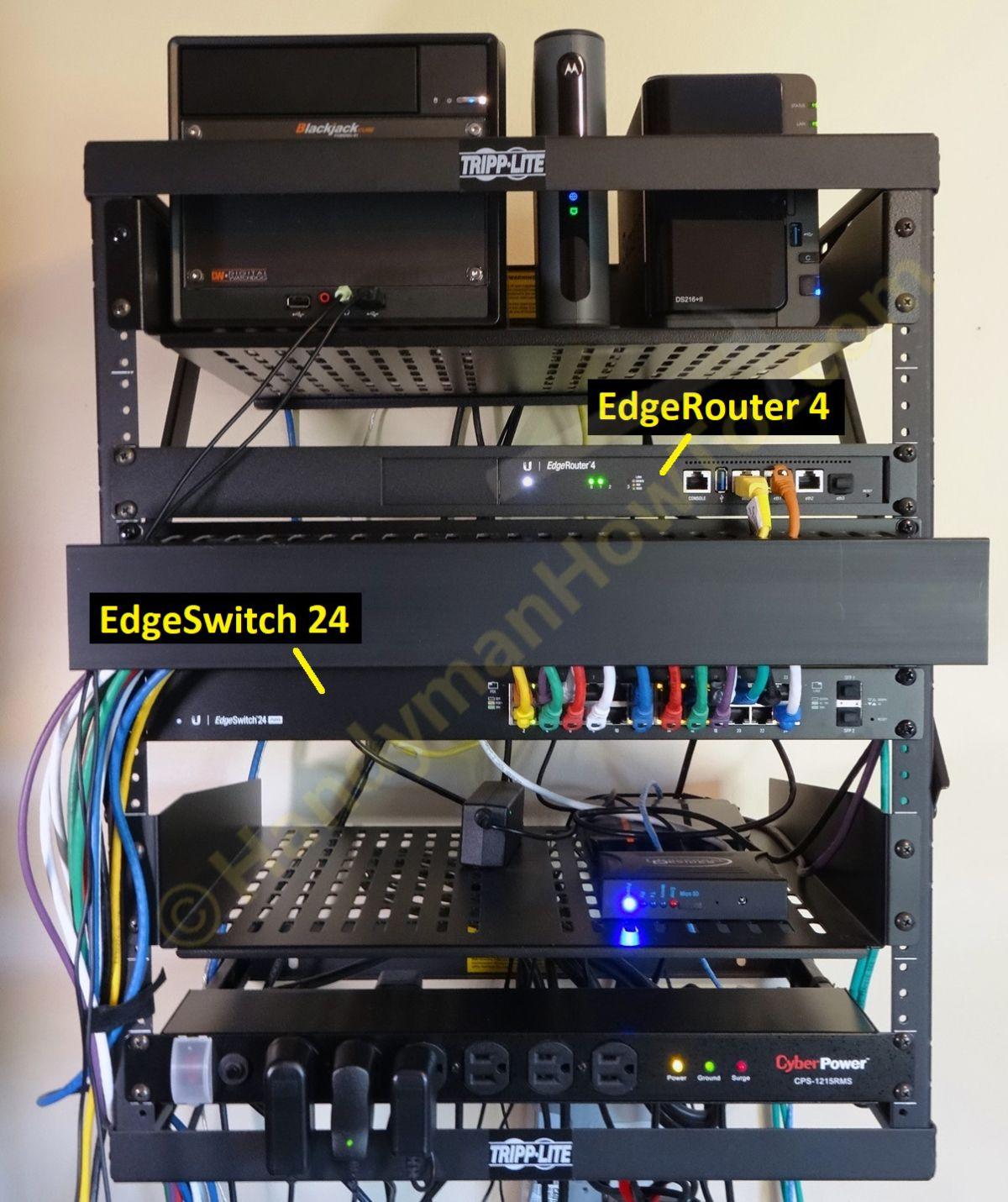 Edgerouter 4 Network Wall Rack Soho Network Network Rack Networking