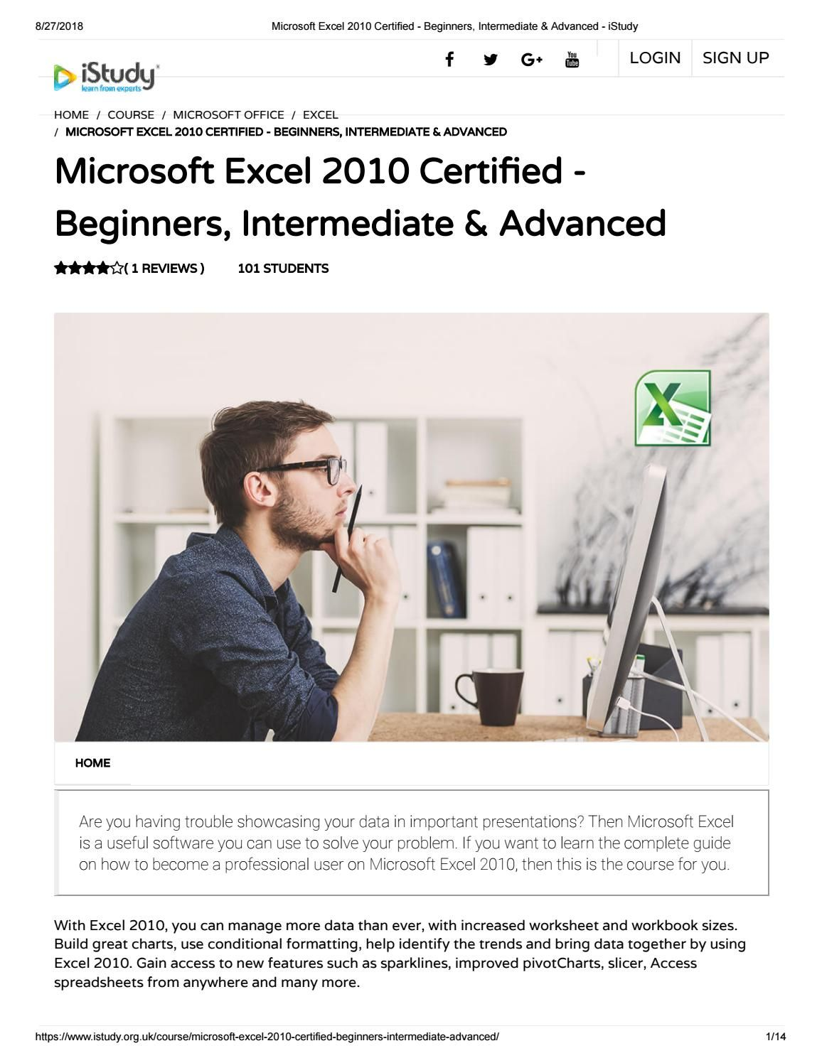 Microsoft Excel Certified