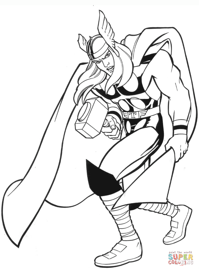 Marvel Thor Coloring Pages In 2020 Superhero Coloring Pages Marvel Coloring Avengers Coloring