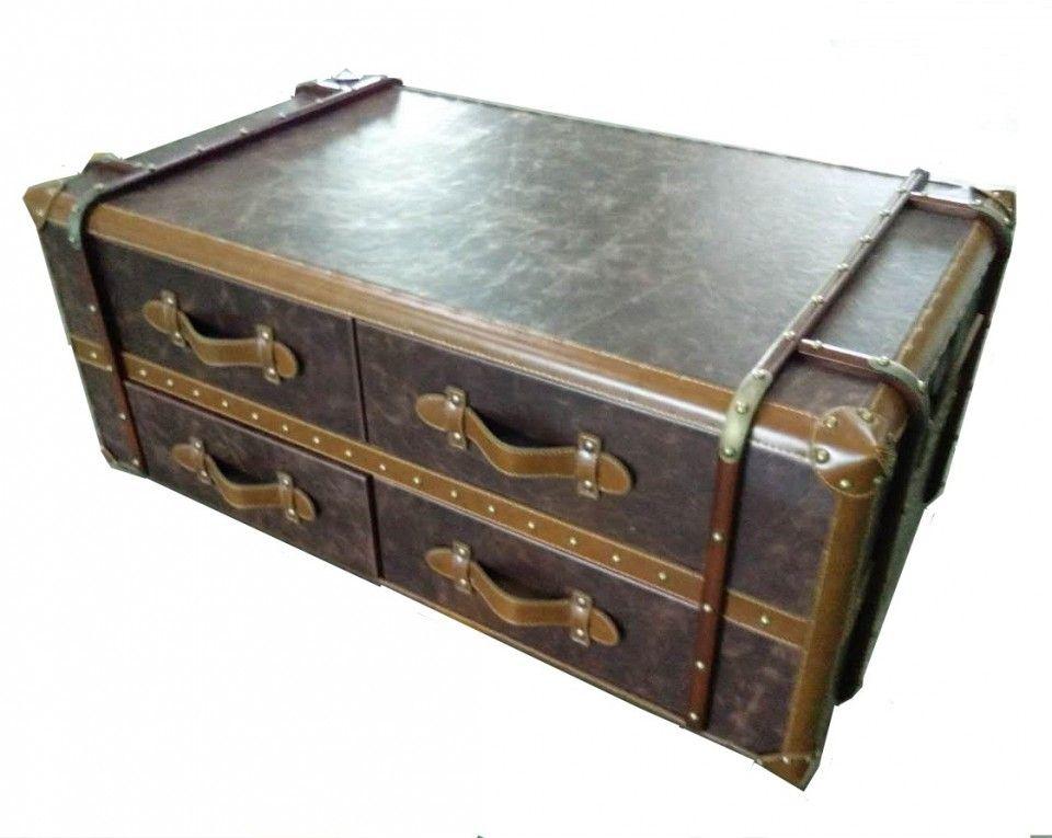 Table Basse Malle De Voyage Table Basse Mobilier De Salon Malle De Voyage