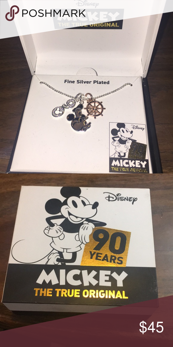 Disney Mickey 90 years silver plated necklace Disney Mickey