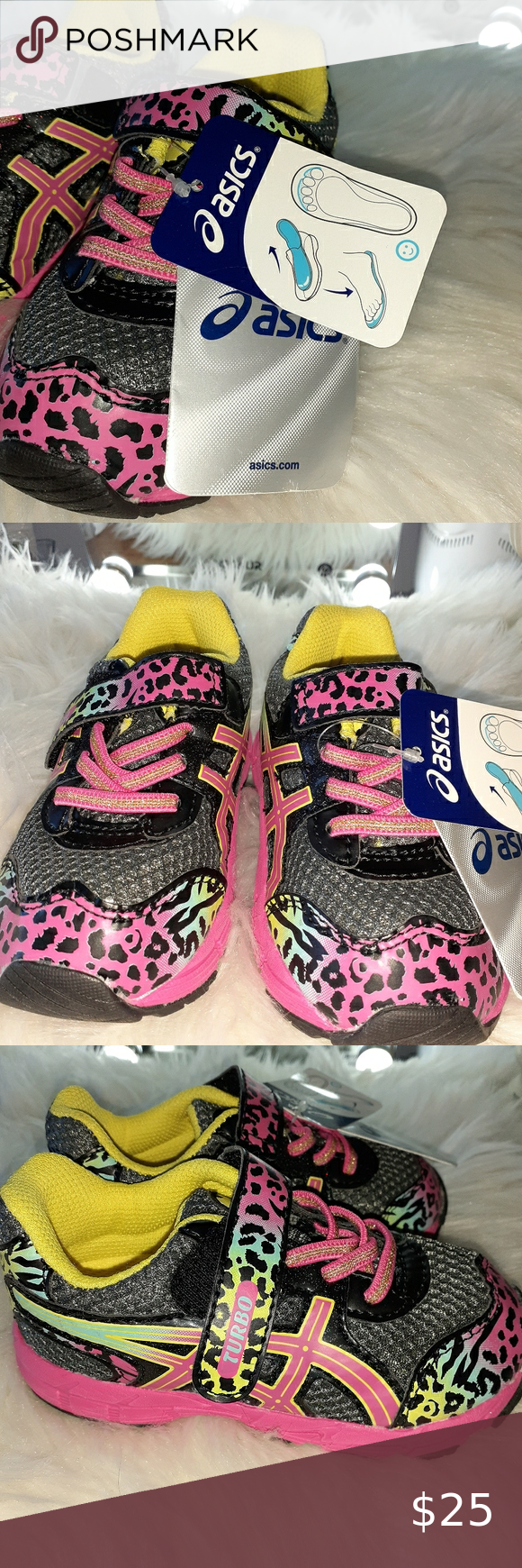 NWT Asics TURBO Little Girl's Shoes in