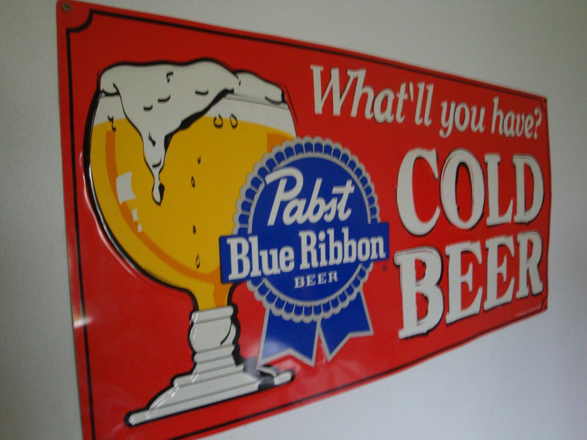 Vintage  Design Hamm/'s Beer METAL counter display sign Beer on Ice OPEN Sign