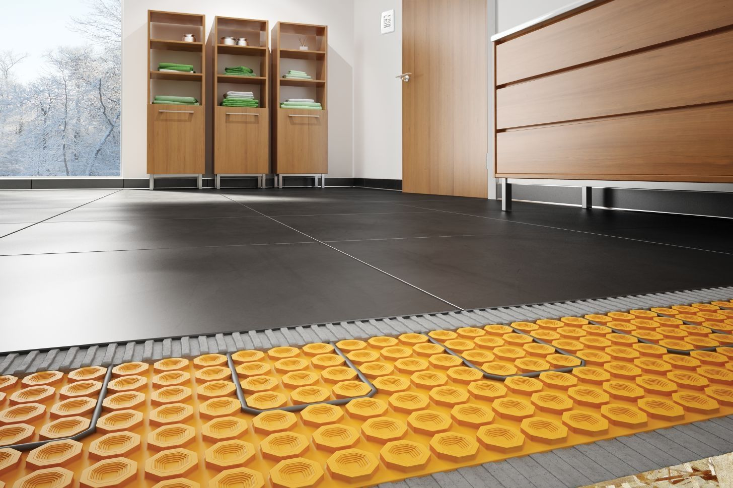 Heated Underlayment For Tile Floors Floor heating