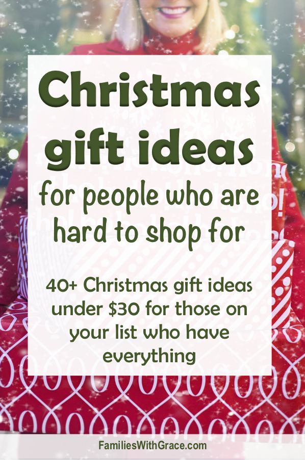 Christmas Gift Ideas For People Who Are Hard To Shop For Mother Christmas Gifts Christmas Gifts Favorite Things Gift