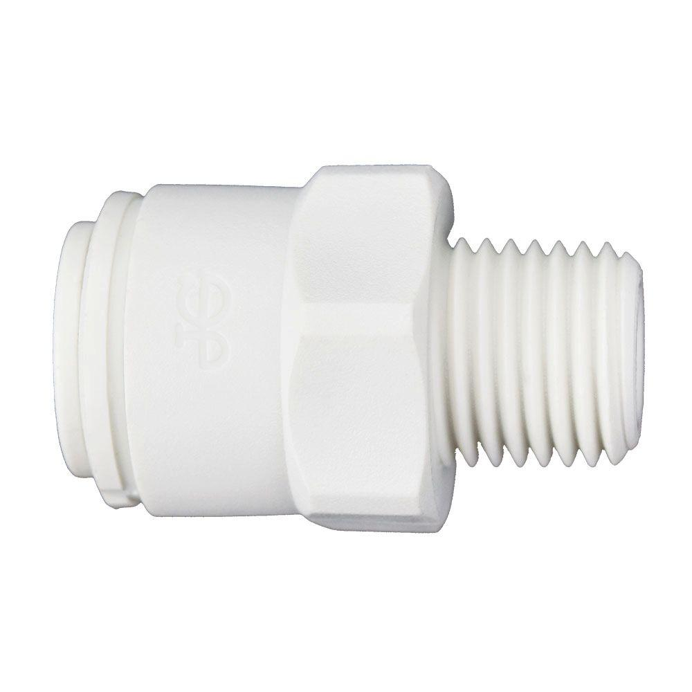 John Guest 3 8 In X 1 4 In Push To Connect Male Connector Fitting 10 Pack Pp011222w The Home Depot Copper Tubing Fittings Connection