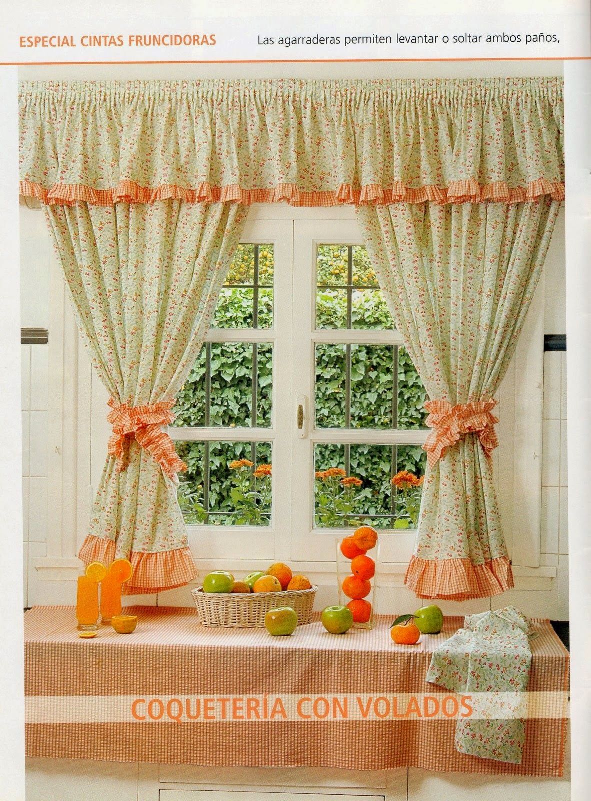 Como hacer cortinas on pinterest manualidades make curtains and watches - Cortinas para la cocina facilisimo ...
