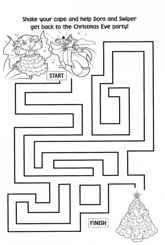 Free Printable Dora Christmas Coloring Pages Picture 52