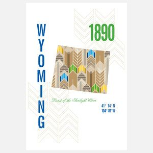 Wyoming Map Print 13x19, $35, now featured on Fab.