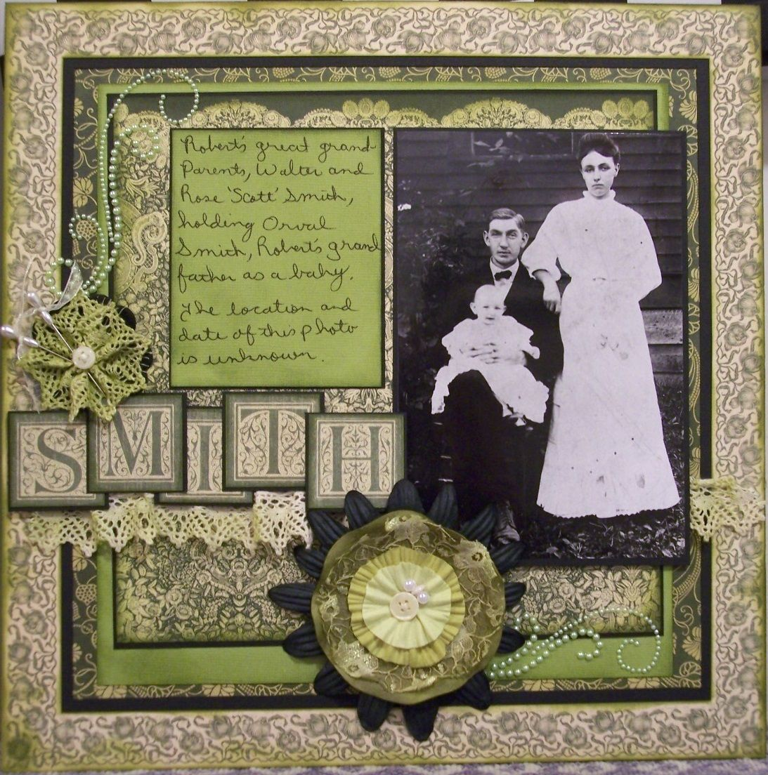 Smith ~ A striking chartreuse and cream color palette with a mult ...