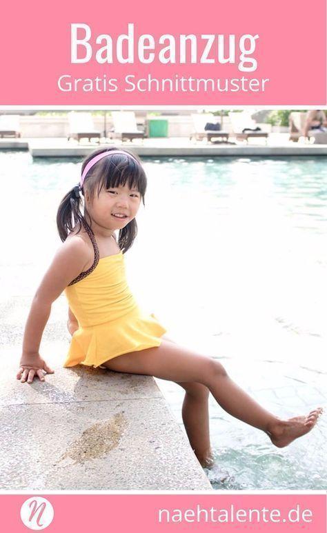 Badeanzug für Mädchen - Freebook | toddler swim cover up | Pinterest ...