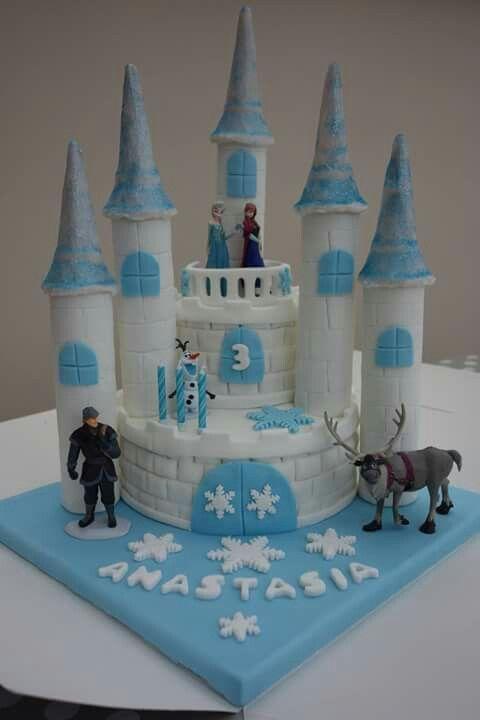 Fabulous Frozen Castle Cake Frozen Castle Cake Castle Birthday Cakes Funny Birthday Cards Online Aeocydamsfinfo