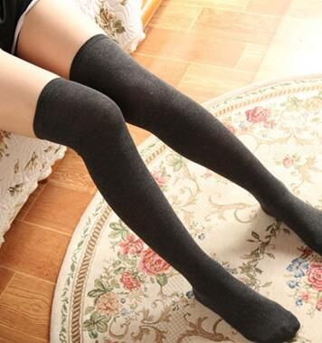20e8999c744 Sexy Knee Socks Women Winter Knitted Thigh High Stocking Long Boot Warm  Slim Stockings Female Sexy Tights Stocking