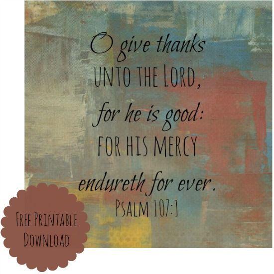 O Give Thanks Free Printable | Free printable, Lord and Free