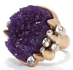 RACHEL ROY | Druzy and crystal ring
