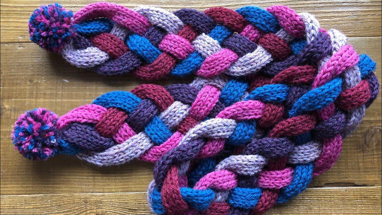 トイレットペーパーの芯で作る マフラー 5つ編みのやり方 簡単 可愛い Diy Tutorial Muffler Easy Knitting Quintuple Bride 手仕事 602 Youtube ゆびあみ ハンドメイドのアイデアまとめ 手芸