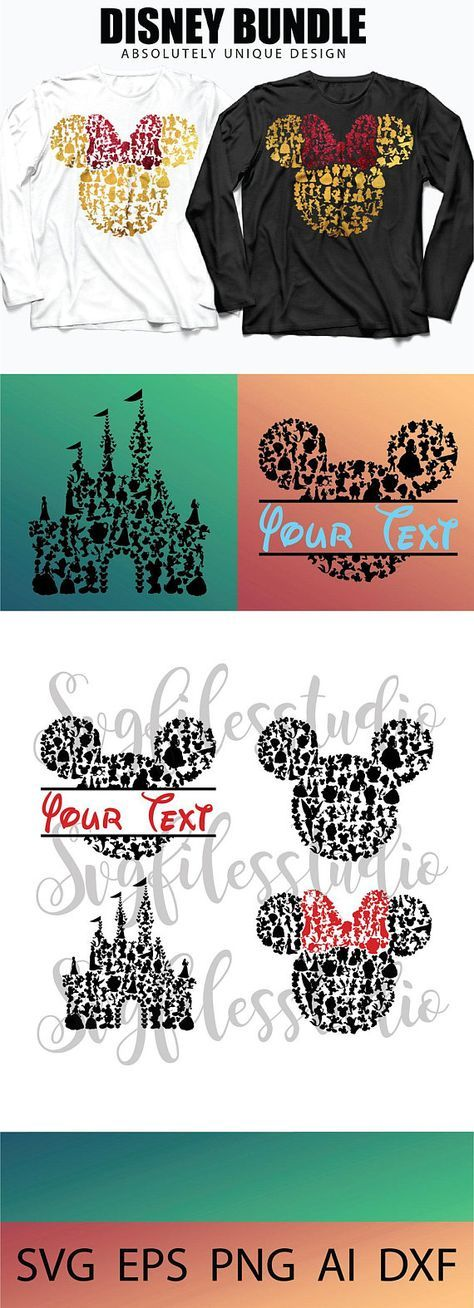 Disney svg, Mickey Mouse Monogram Frames SVG Collection