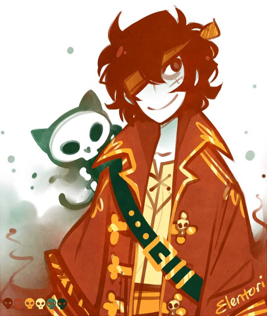 Pirate Nico Di Angelo, palette meme for @twisted-wandererand some